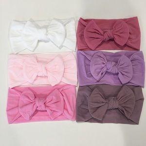 6 Baby Nylon Headband Headwraps